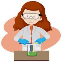 Een wetenschappelijk experiment op witte achtergrond