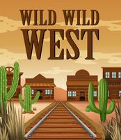 Affiche voor de wilde west stad