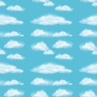 Naadloos ontwerp als achtergrond met pluizige wolken vector