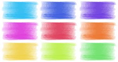 Penseelstreken in verschillende kleuren