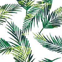 Naadloos exotisch patroon met palmbladen.