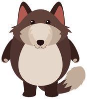 Leuke vos met rond lichaam vector