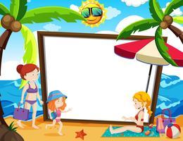Een whiteboard met zomerthema vector