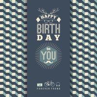 Gefeliciteerd met je verjaardag, vintage retro achtergrond met ge vector