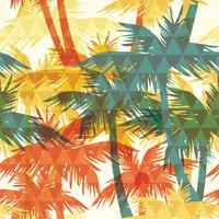 Naadloos exotisch patroon met palm op geometrische achtergrond. vector