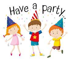 Gelukkige kinderen op het feest