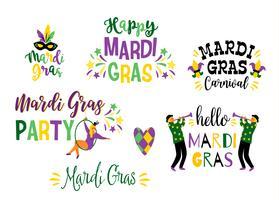Mardi Gras. Vector ontwerpelement voor carnaval concept
