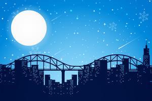 Nachtelijke scène van de stad