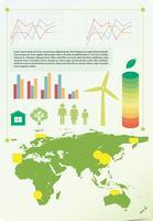 Een infokaart met de omgeving vector