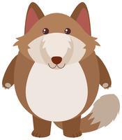 Bruine vos met blij gezicht vector