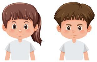 Set van jongen en meisje karakter vector
