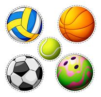 Verschillende soorten ballen vector