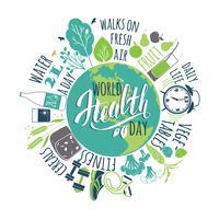 Wereldgezondheidsdag concept. vector
