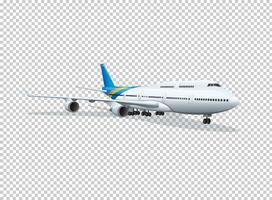 Vliegtuig op transparante achtergrond vector