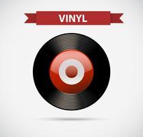 Entertainment-pictogram voor vinyl vector