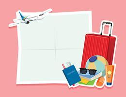 Lege notitie met reisobject