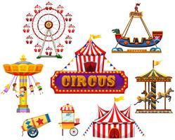 Een circus- en festivalelement vector