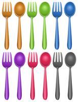 Zes paar vork en lepel