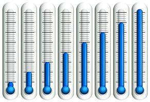 Thermometer met blauwe vloeistof vector