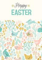 Gelukkig Pasen. Vector sjablonen voor kaart, poster, flyer en andere gebruikers.