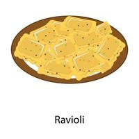 ravioli pastaschotel vector