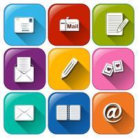 Mail pictogrammen vector