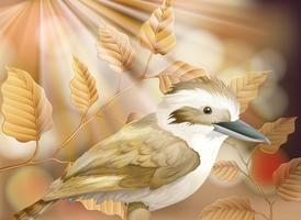 Een kleine vogel in de natuur