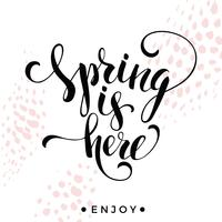 Sping is hier. Belettering ontwerp.