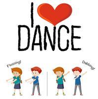 Ik hou van dans-concept