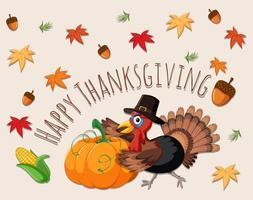 Happy thanksgiving concept kaart vector