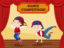 Streetdance-uitvoering op het podium