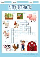 Een boerderij kruiswoordraadsel concept