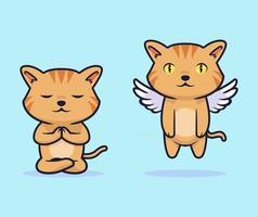 schattige kat vector illustratie ontwerp