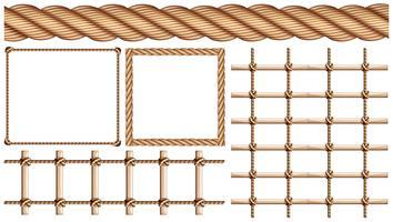 Touw en veel gebruik van touw vector