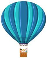 Kinderen rijden in hete luchtballon vector