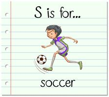 Flashcard letter S is voor voetbal vector