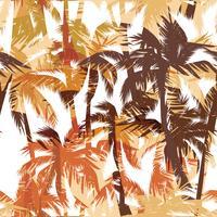 Tropische zomerdruk met palm. vector