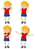 Een meisje met shmoney dans