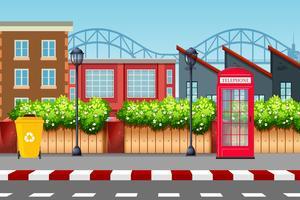 Stedelijke straat scene achtergrond vector
