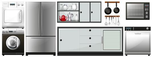 Verschillende apparaten gebruiken in huishoudens vector