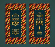 Gelukkige Vaderdagkaart in Retro Stijl. vector