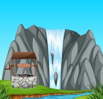 Een steenbron in de natuur
