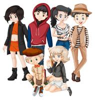 Een groep tieners vector