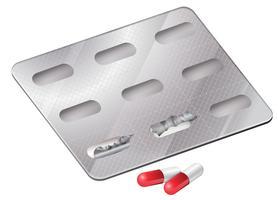 Capsules buiten de verpakking vector