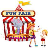 Fun Fair Show op witte achtergrond vector