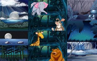 Wilde dieren in het bos vector