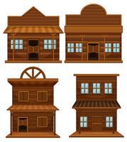 Westerse stijl van gebouwen
