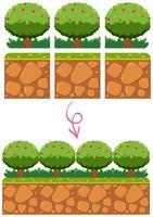 Tuin sjabloon element voor spel vector