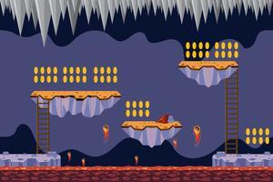 munt verzamelen spel lava thema