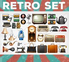 Verschillende soorten retro-objecten
